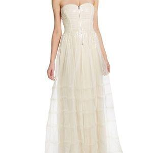 NWT Betsy Johnson Ivory Prom Dress